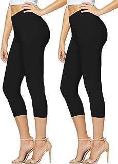 Premium Ultra Soft High Waisted Capri Leggings for Women...