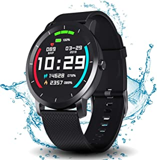 DoSmarter Fitness Tracker Watch with Heart Rate and Blood Pressure Monitor for Man Woman, Waterproof Sports Running Watch with Pedometer Calories Counter Compatible with iOS and Android Phone