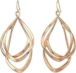 Liquid Gold Orbiting Wire Earrings