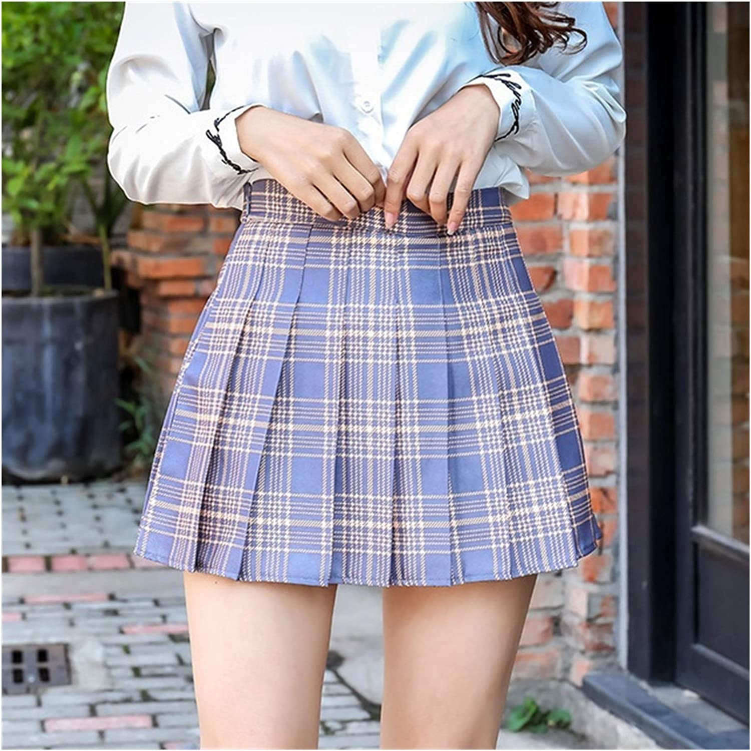 HMJPN High-Waist A-line Skirt Striped Pleated Stitching Women's 5 ☆ very popular Cash special price