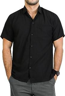 LA LEELA Men's Cool Casual Short Sleeve Aloha Hawaiian Shirt