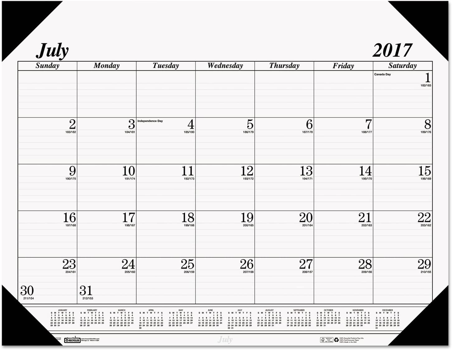 House of Doolittle 2017 Monthly Desk Pad Calendar 22 x 17 Economy HOD12402-17