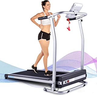 ANCHEER Folding Treadmill,12 Preset Programs, Electric Foldable Treadmills with LCD Monitor Motorized & Pulse Grip, Indoor Walking Running Exercise Machine Trainer for Home GymWorkout