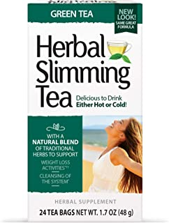 21st Century Slimming Tea, Green Tea, 24 Count (Pack of 3)