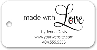 Made with Love Custom Personalized Tags - for Gifts, Favors, Crafts, Business, or Handmade Products 3