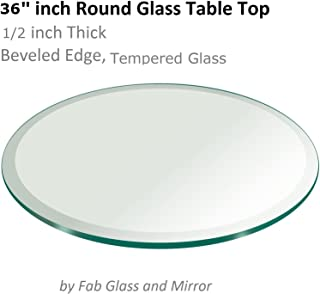 Best 38 inch glass table top Reviews