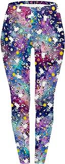 Women's Digital Printed Leggings Soft Basic Solid Patterned Stretchy Workout Yoga Pants