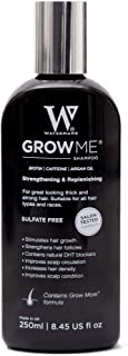 Best Hair Growth Shampoo Sulphate & Paraben Free, Caffeine, Biotin, Argan Oil, Allantoin, Rosemary. Stimulates hair growth, Great for slow growing hair - Hair Loss problems for Men and Women
