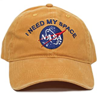 3c53f68736c NASA I Need My Space Pigment Dye Embroidered Hat Cap Unisex Adult Multi