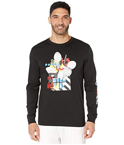 Nike NSW Long Sleeve Crew T-Shirt 4 (Black) Men