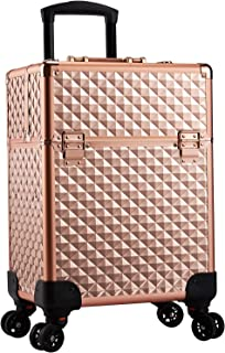 Stagiant Rolling Makeup Train Case Large Storage Cosmetic Trolley 4 Tray with Sliding Rail...