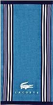 "Lacoste Oki 100% Cotton Beach Towel, 36""W x 72""L, Teal/Blue Iconic"