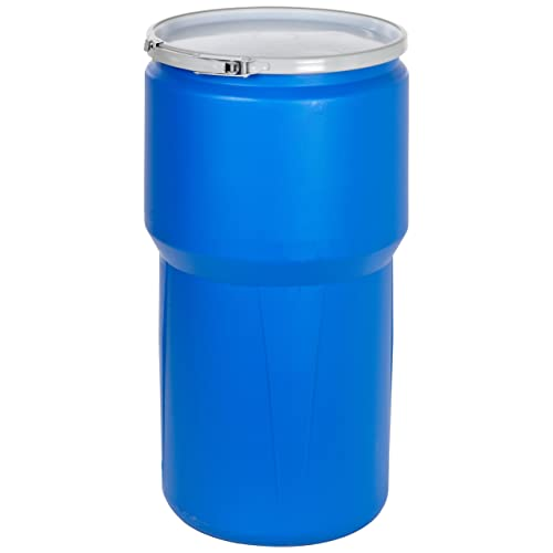 55 gallon PLASTIC removable lever lock lid open top barrel drum PICK UP ONLY