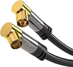 KabelDirekt 1m Cavo Antenna Coassiale 90°, (Gomito 90° Coassiale, Classe A, supporta HDTV schermatura effettivo di 100 dB, trasmissione di segnali HD, televisori, ricevitori), PRO Series