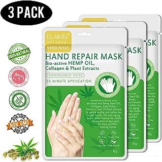 3 Pack Natural Peel Hand Repair Mask,Spa Gloves Deep Moisturizing Nourish Whitens for Dry Hands,Exfoliating Reduce Age Spots Repair Rough Damage Skin
