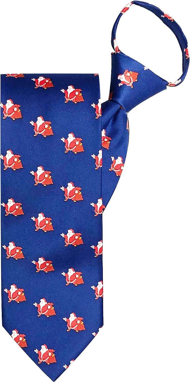 Jacob Alexander Men's Merry Christmas Jolly Ole Santa Zipper Neck Tie