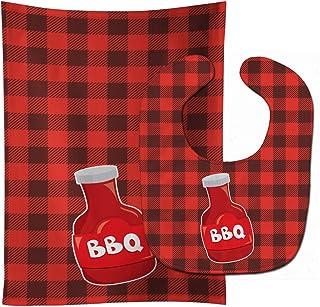 Caroline's Treasures Backyard BBQ Sauce Baby Bib & Burp Cloth, Multicolor, Large