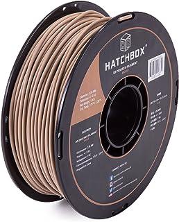 HATCHBOX 3D Printer Filament, Dimensional Accuracy +/- 0.03mm, 3.00 mm, 1 kg Spool, Wood