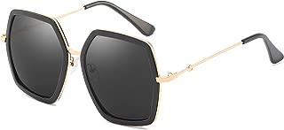 Oversized Square Sunglasses for Women Vintage Hexagon Brand Inspired Designer Fashion Style Shades
