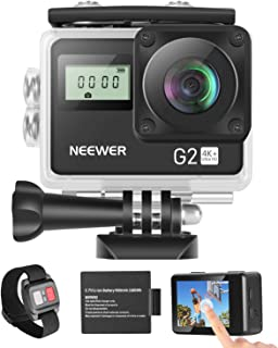 Neewer G2 4K WiFi Sports Action Camera with Touch Screen Ultra HD Waterproof DV Camcorder 12MP 4K/30FPS EIS 170 Degree Wid...