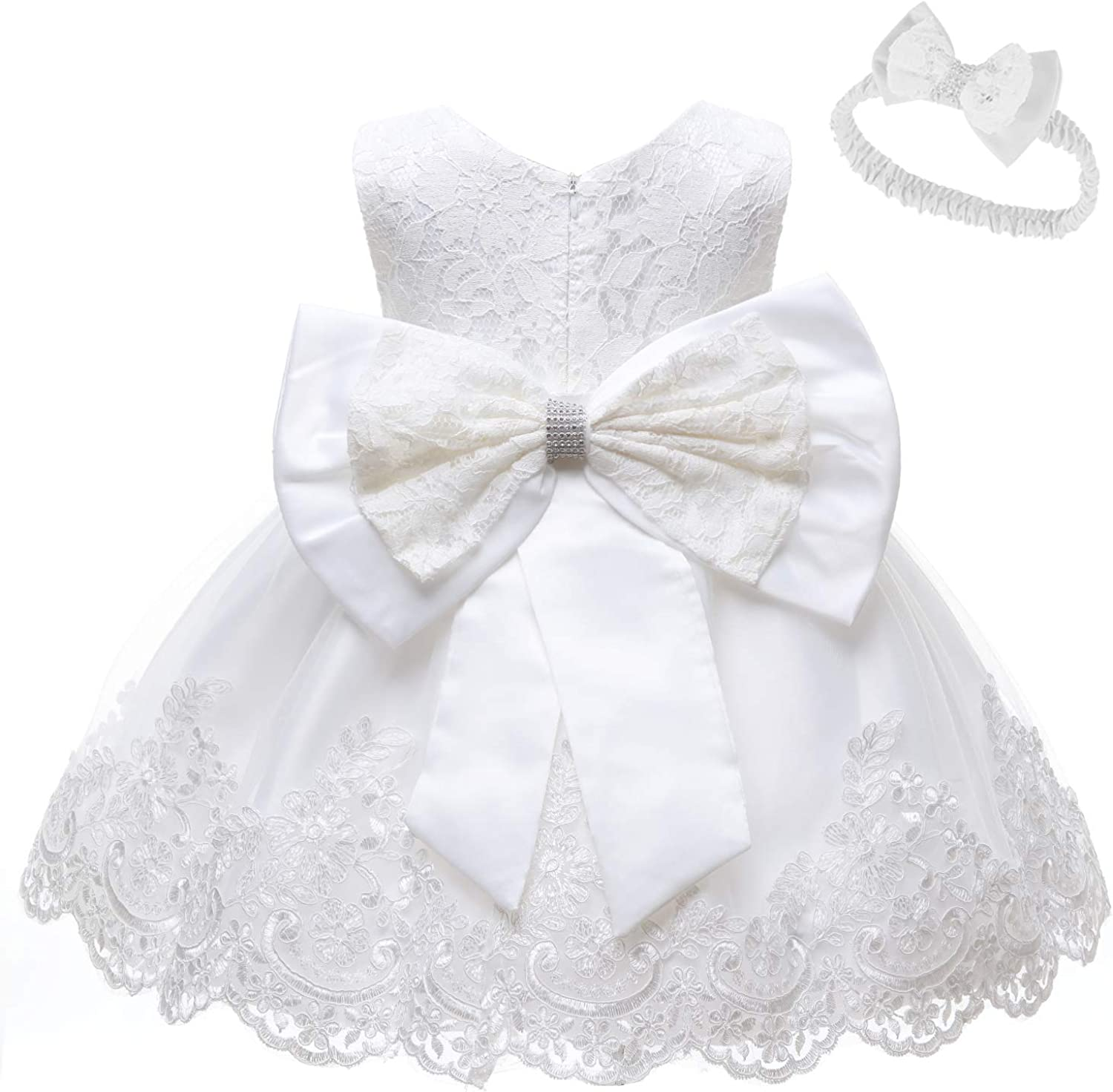 LZH Baby Max 58% OFF Girls Lace Dress Flower Bowknot Pageant Cheap sale Dresses Wedding