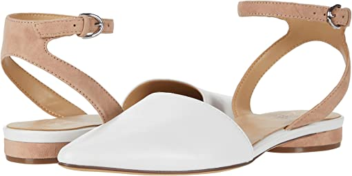 White Nude Leather/Suede