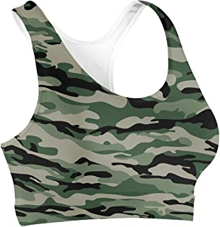 Rainbow Rules Military Camouflage Sports Bra