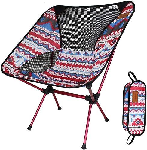 JLBao Chaise de Camping Pliante légère, Tissu Oxford 600D épais, Charge maximale 150kg, Chaise de Plage décontractée,rouge