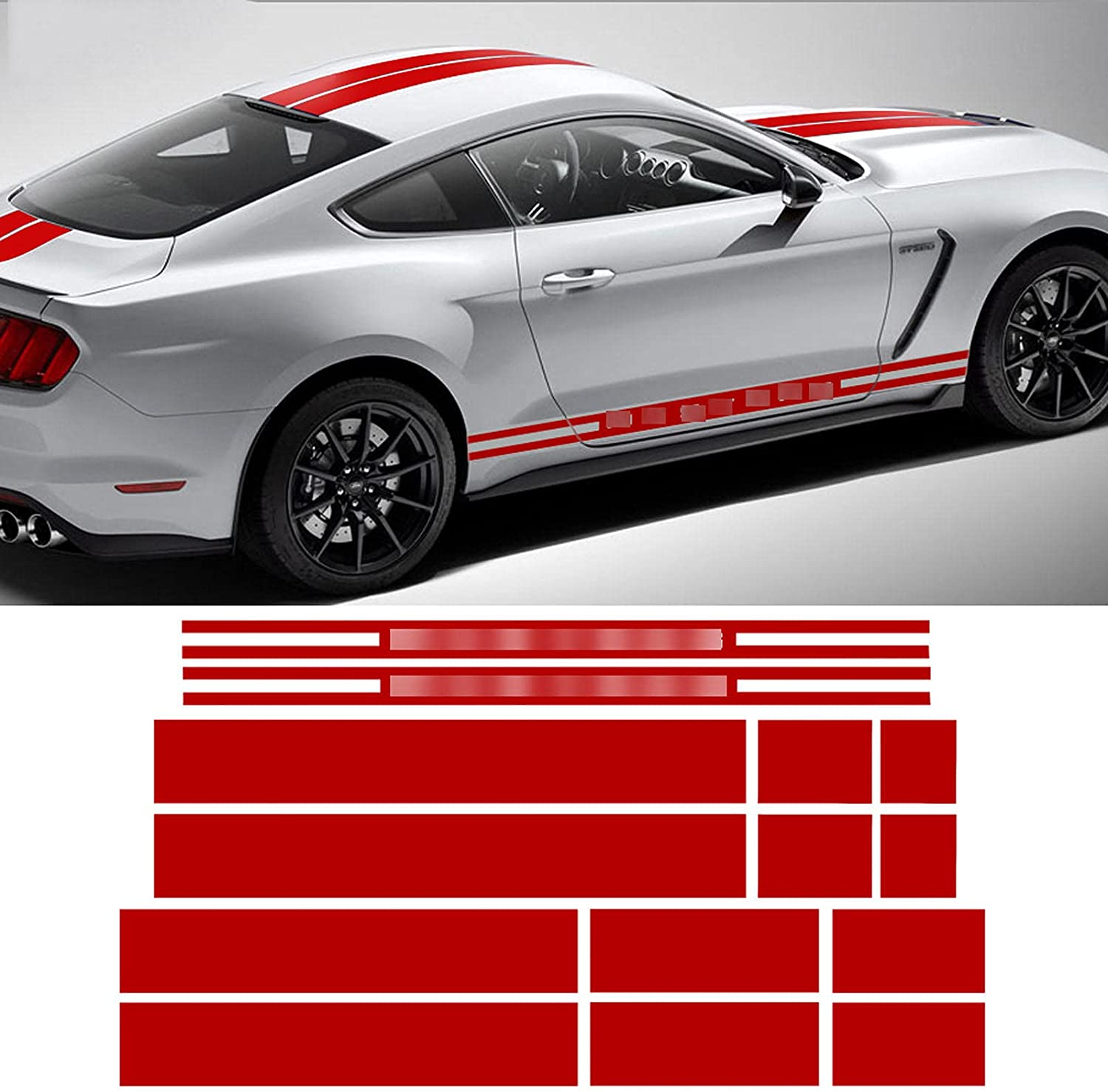 XKHSD Car Side Skirt Stripe Decal 2015- Mustang for Popular Discount is also underway popular Ford Decals