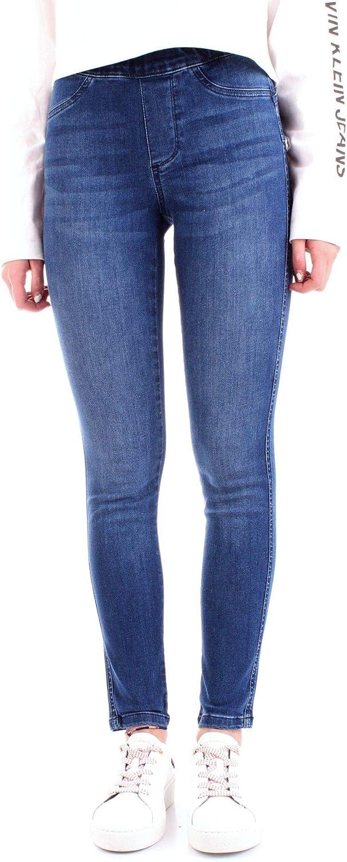 Silvian Heach Women's PGP19879JEblueDENIM bluee Cotton Jeans