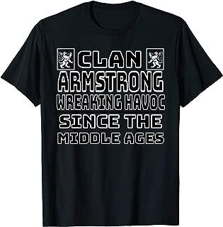 Armstrong Scottish clan Family Kilt Tartan Lion T-Shirt