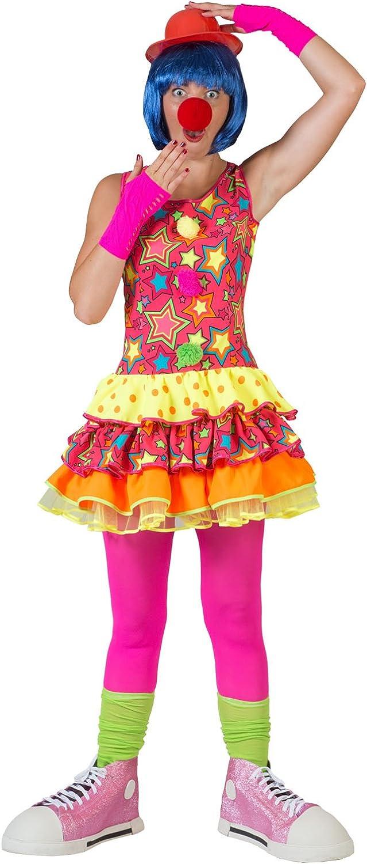 Generique Multi coloured clown costume for women L