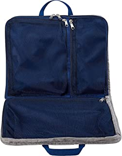 Packing Cube + Hanging Travel Organizer for Luggage, Suitcase or Carry On, W/Smart Design grab Handle & Breathable Mesh, Gray