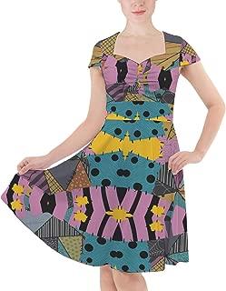 Ragdoll Patchwork Sally Sweetheart Midi Dress