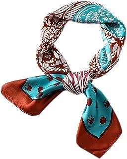 Satin Square Silk Feeling Hair Scarf Headscarf for Women/Men's Necktie Bandanas Pocket Square