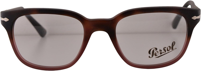 Persol PO3093V Eyeglasses 48-20-145 Havana Gradient Red w/Demo Clear Lens 9025 PO3093-V PO 3093-V PO 3093V (NO BOX & NO CASE)
