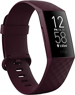 Fitbit Charge 4 Advanced Fitness Tracker with GPS, Heart Rate, Sleep & Swim Tracking - Rosewood Pink