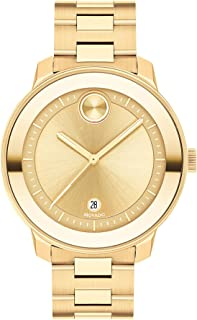 Movado Women's Swiss Quartz Watch with Stainless Steel Strap, Yellow Gold, 16.95 (Model: 3600750)