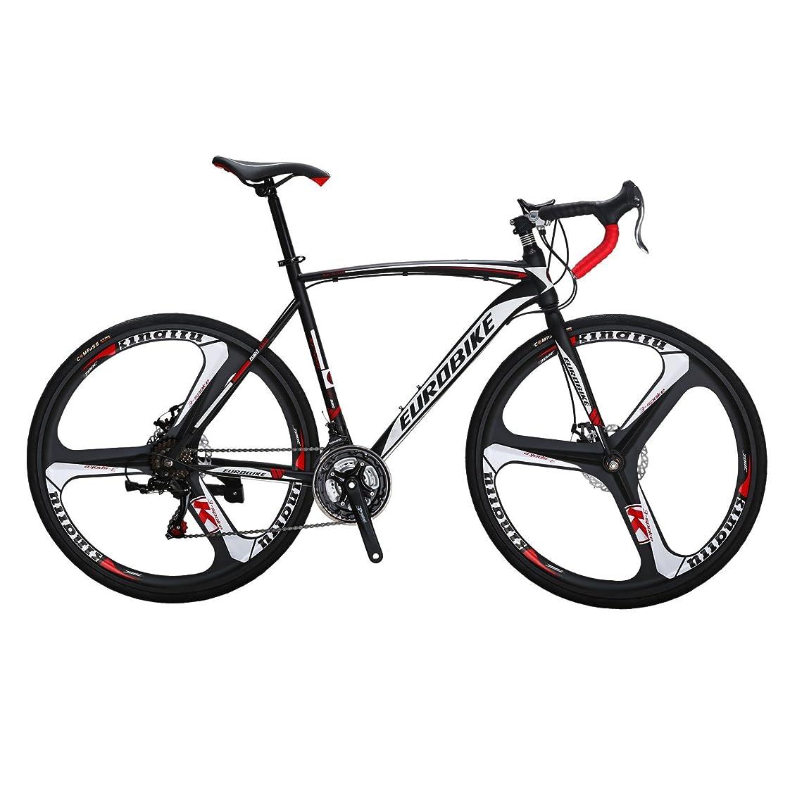 ロッジ背が高い神ロードバイク EUROBIKE XC550 自転車 700C 変速シマノ21速 ディスクブレーキ 3つのスポークのラウンド 通学 自転車 通勤自転車