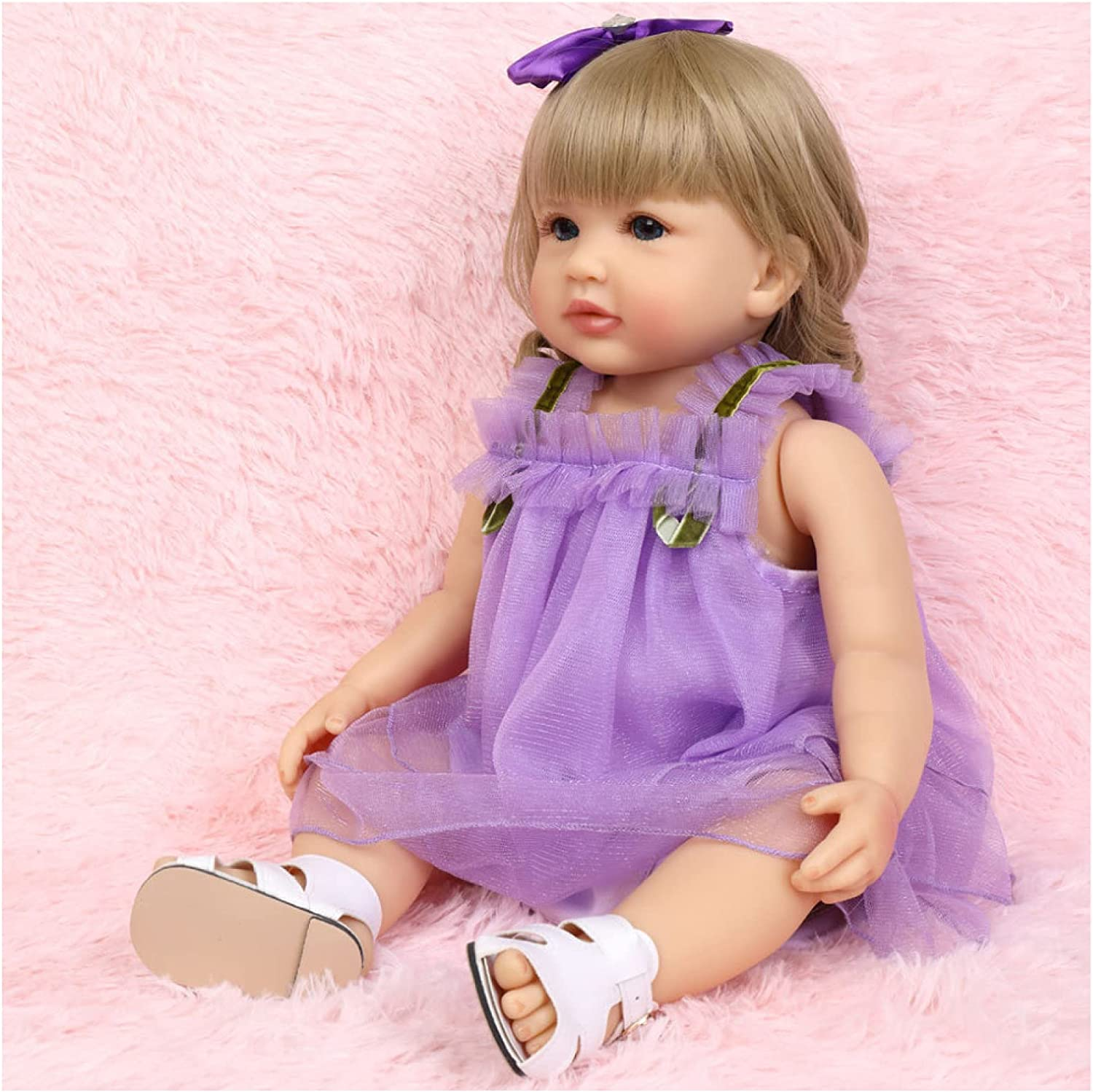 YANRU Special price for a limited time Silicone Award Reborn Doll - Girl Toddler 22in Look Real