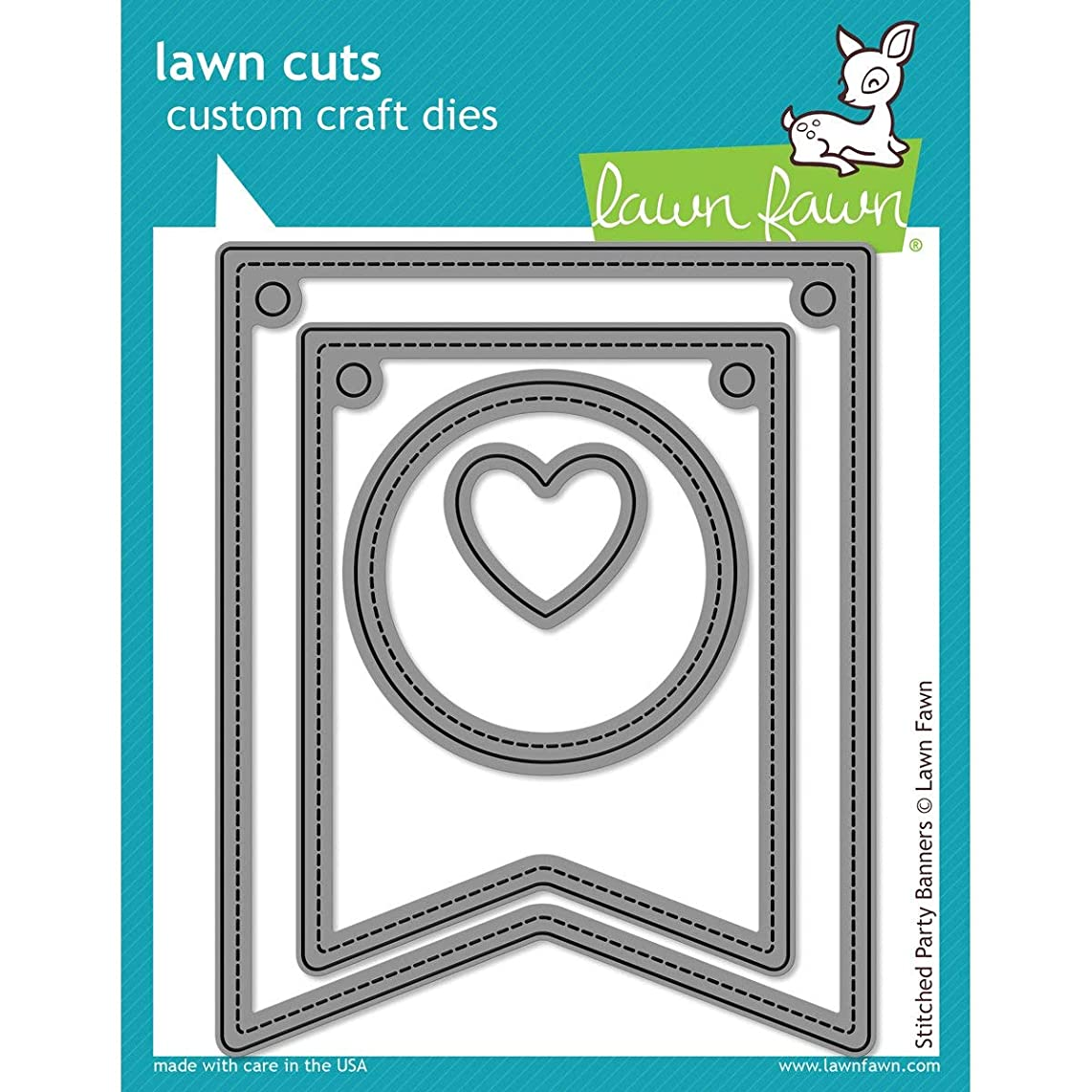 Lawn Fawn Stitched Party Banners Dies LF687