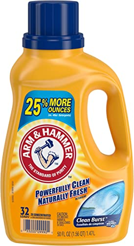 Arm & Hammer Clean Burst Liquid Laundry Detergent, 32 Loads