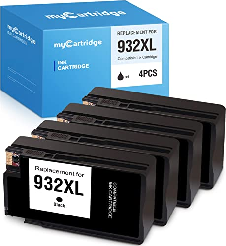 high quality MYCARTRIDGE Compatible Ink Cartridge Replacement for online HP 932XL 932 932 XL Work with OfficeJet 6700 6600 7610 wholesale 7612 6100 7110 (4 Black) (V-H932XL-4BK) online