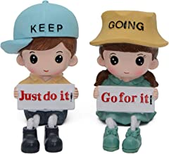 Store2508® Cute Inspirational (Just Do it/Go for It) Hanging Legs Showpiece Dolls (Pair) for Home Décor. Very Nice Gift Item