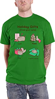 Pusheen T Shirt Official Mens Green