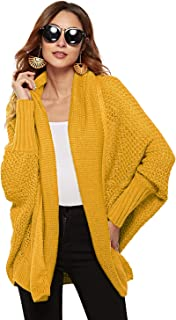 Marbetia Womens Kimono Open Front Cardigan Batwing Sleeve Oversized Knit Casual Loose Sweaters