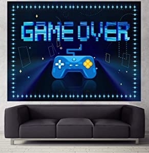 Gaming Room Decor Tapestry for Teenage Boy- Wall Hanging Fabric Backdrop for Gamer Room Decor, Gamer Room Wall Art Poster Decorations (Large (79