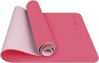 TOPLUS Yogamat, TPE gymnastiekmat, trainingsmat, antislip, pilatesmat, yoga, fitnessmat met draagriem, 183 x 61 x 0,6 cm