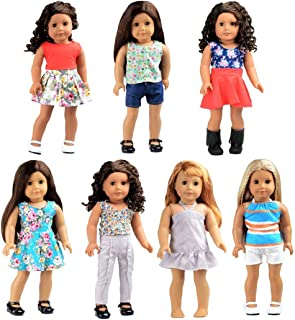 Bili 18 Inch Doll Clothes, 7 Outfit Doll Accessories Compatible with 18 Inch American Girl Doll, My Life Doll, Our Generation Doll in Xmas
