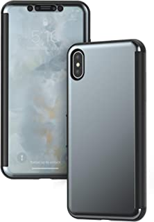 Moshi StealthCover for iPhone Xs Max Case 6.5-inch with Magnetic Front Cover for iPhone XR, Supports Wireless Charging, Gunmetal Gray